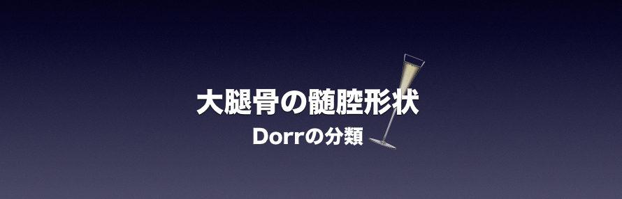 大腿骨の髄腔形状(Dorrの分類)