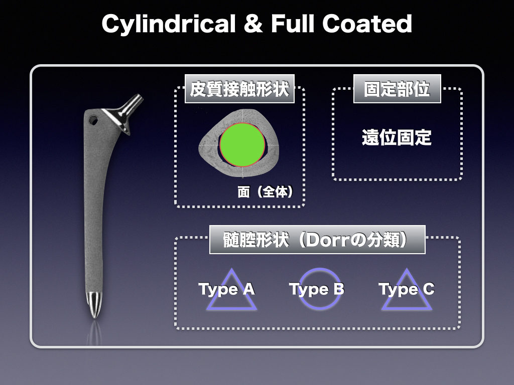 Cementless Stem(Cylindrical & full Coated)