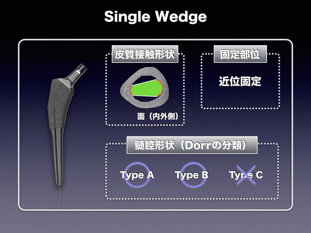 Cementless Stem(Single Wedge)