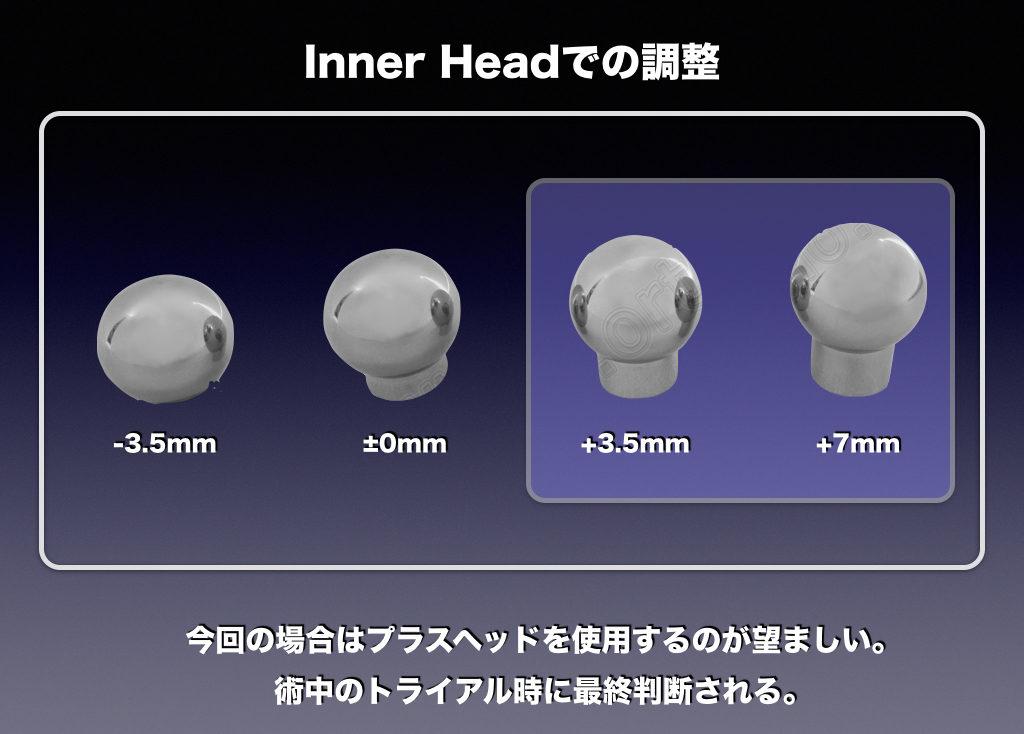 Inner Headでの調整